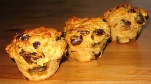 muffins aux dattes et à l'orange